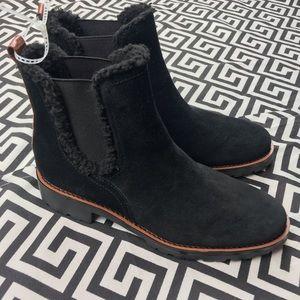 Sam Edelman• ankle boot faux fir trim 6.5 pull on